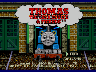 Thomas The Tank Engine Friends Is A 1993 US Only Sega Mega Drive Game Starring Characters From Childrens Television Show