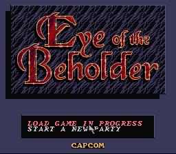 AD&D - Eye of the Beholder