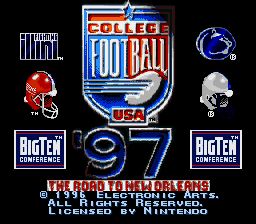 College Football USA '97 - The Road to New Orleans