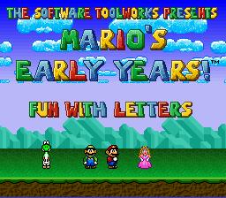 Mario's Early Years