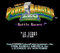 Power Rangers Zeo - Battle Racers