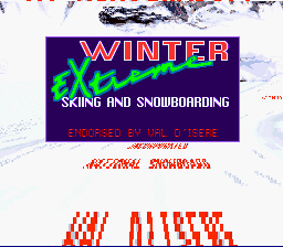 Winter Extreme Skiing and Snowboarding