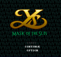 Ys IV - Mask of the Sun